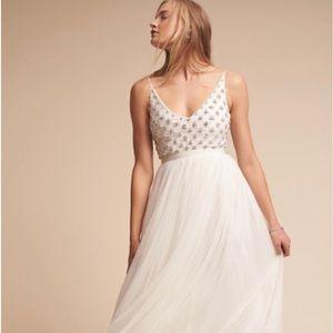BHLDN Myra Formal Wedding Dress Beaded Size 4